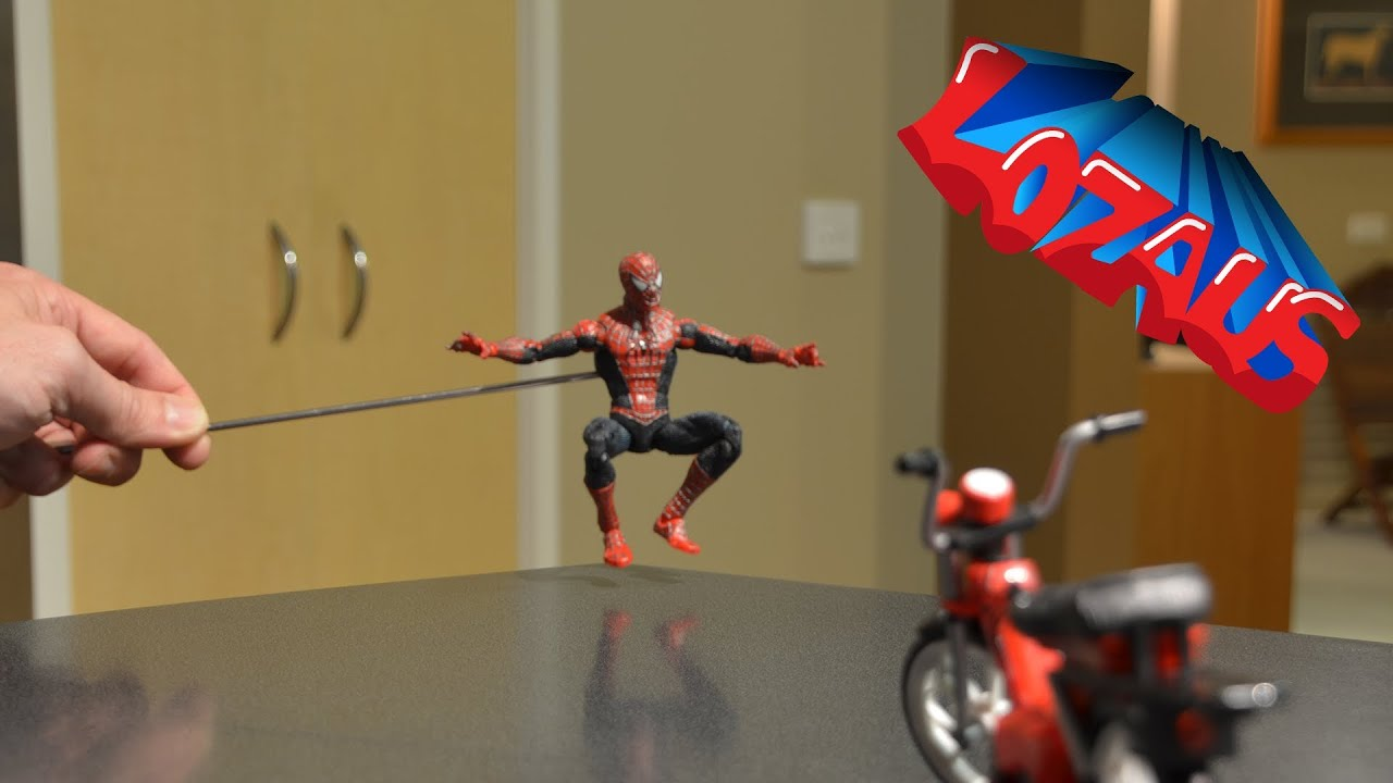 SPIDERMAN STOP MOTION TUTORIAL STEP 1 - YouTube