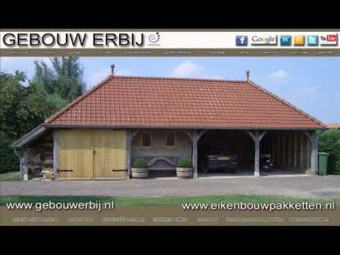 eiken carport van 4 vaks 12 12 x 5 50 meter vanaf youtube. Black Bedroom Furniture Sets. Home Design Ideas