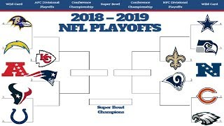 2019 NFL PLAYOFF PREDICTIONS! YOU WON'T BELIEVE THE SUPER BOWL MATCHUP! 100% CORRECT BRACKET!