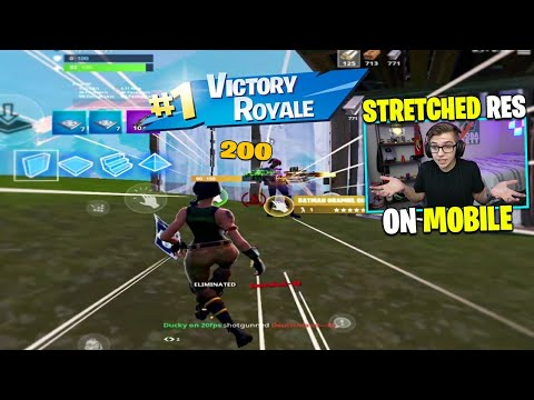 I Used STRETCH RES On Fortnite Mobile (actually Works)