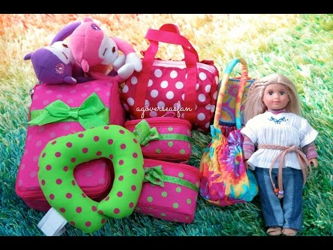 American Girl Doll Luggage and Travel Set and Packing for American Girl Doll
