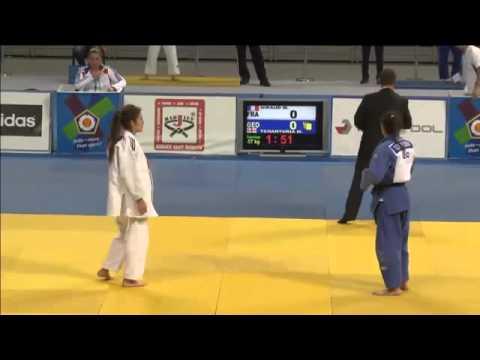 Cadet European Judo Championships - 2015 - GIRAUD, Marine (FRA)-TCHANTURIA, Mariam (GEO)