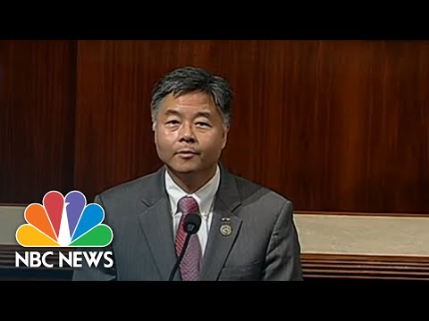 Representative Ted Lieu Plays Audio On House Floor Of Crying Immigrant Children | NBC News
