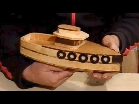 Wood Toy Plans - Stojanovic Tug Boat - YouTube