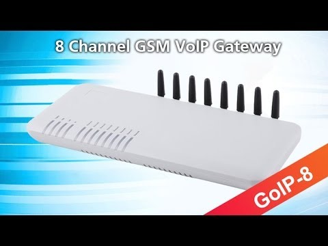 8 ports GSM VoIP Gateway for call termination, GoIP-8