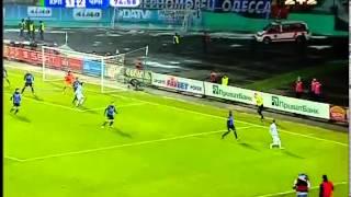Карпаты - Черноморец - 1:2. Стойка спасает Одессу (75')(75 минута. Штрафной с 17 метров пробивали