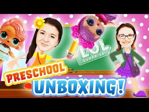 lol-surprise-dolls-go-to-school-with-magnetic-preschool-unboxing!-featuring-sugar-queen-&-treasure!