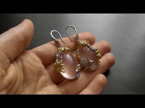 Серьги из серебра с камнями Купить серебряные серьги