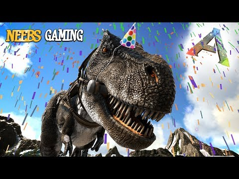 T-Rex Birthday Party!!! - Ark Survival Evolved