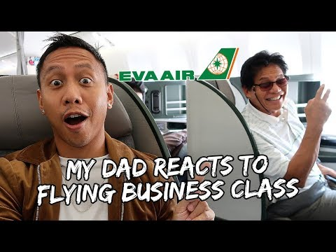 My Dad's Hilarious Reaction to Flying Business Class | Vlog #501