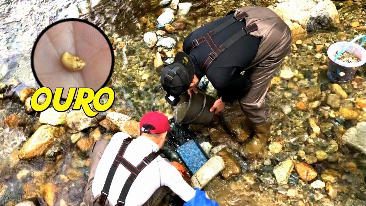 Novatos no GARIMPO encontrando OURO! / GOLD RUSH / 金属探知機