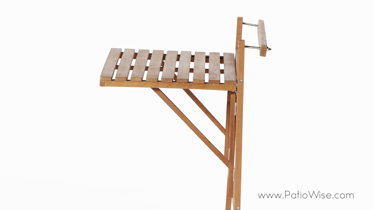 patio wise condo and balcony folding table stand space saver pwbt