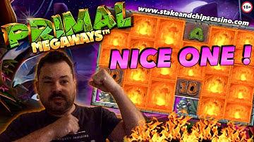 PRIMAL SLOT BONUS !! & BASE GAME WIN 🚨 ONLINE CASINO BIG WINS MEGAWAYS
