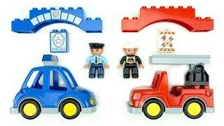 Download فيديو اللعب للأطفال لتعلم الألوان عن طريق شاحنات الإطفاء للأطفال Lego Duplo للبناء والتشغيل Mp3 and Videos