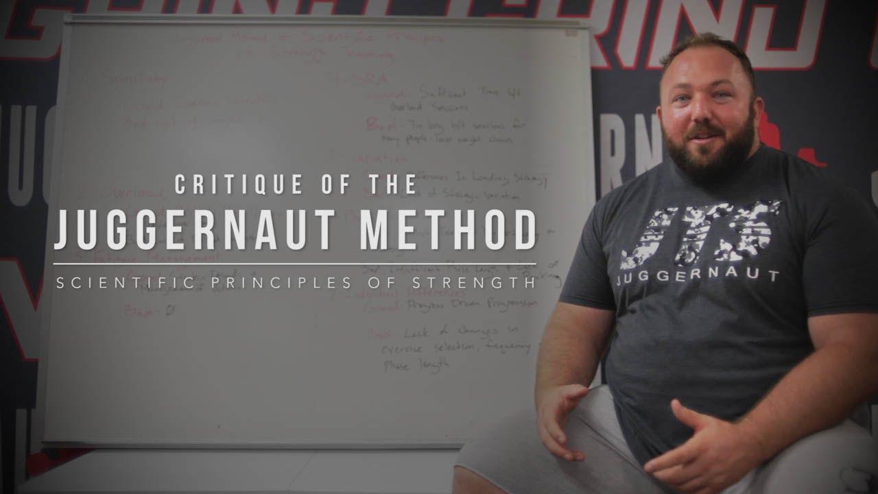 critique of juggernaut method jtsstrengthcom youtube