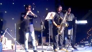 Chaudhvin ka chand ho-live on Saxophone by team kalinga fusion band kochi kerala