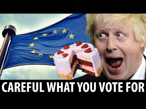 Boris Johnson likes cake. Be careful what you vote for... Nigel Farage lied about the NHS.