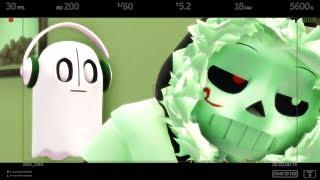 [MMD Undertale AU] Ghost Caugh On Camera (Original Motion)