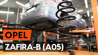 Cum se înlocuiește arc de suspensie din spate OPEL ZAFIRA-B 2 (A05)[TUTORIAL AUTODOC]