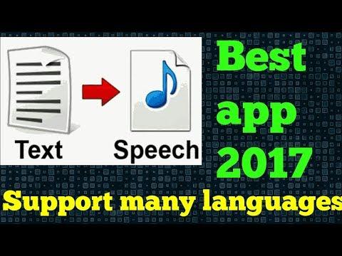 Best text to speech app 2017