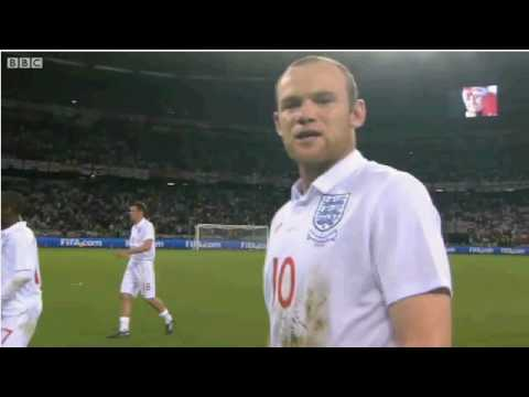 Wayne Rooney blasts booing England fans 18.06.2010 FIFA World Cup 2010 England v Algeria:
