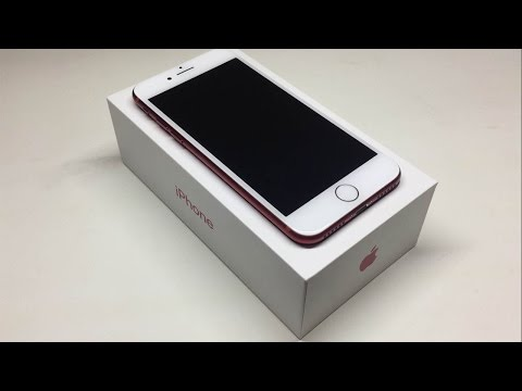 Thumbnail: iPhone 7 Product Red 256GB Unboxing and First Look