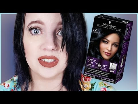 Schwartzkopf Shire Black Hair Dye Demo Review