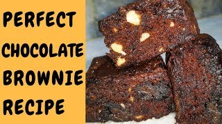 Chocolate Brownie Recipe | How To Make Perfect Brownie | Fudgy Brownie Recipe | Hadia