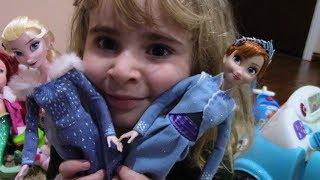 Подарок на рождество. ЭЛЬЗА и АННА, приключения ОЛАФА, у нас был Санта.Christmas gift Elsa @ Anna
