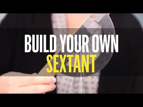 How to build your own sextant from junk