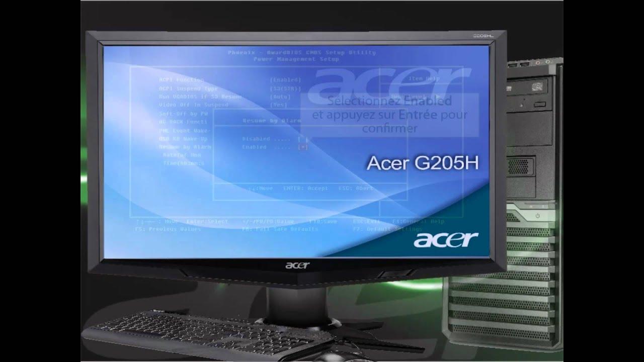 Ordinateur pc de bureau acer comment activer le rtc real time clock alarm de votre pc youtube - Ordinateur de bureau acer ...