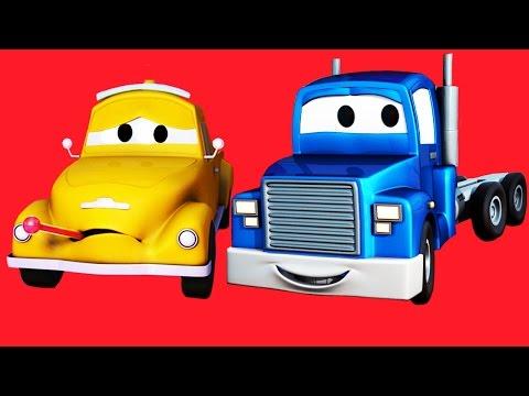 Carl el Super Camión con sus amigos Tom la Grúa, la Ambulancia y muchos más en Auto City