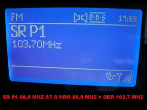 Sveriges Radio P1 Hörby 88,8 MHz via Diedrichshagen 103,7 MHz (repeater)