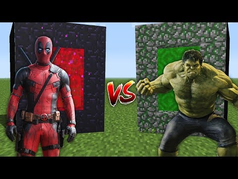 MINECRAFT PORTAL vs PORTAL || SUPERHERO vs SUPERHERO!! thumbnail