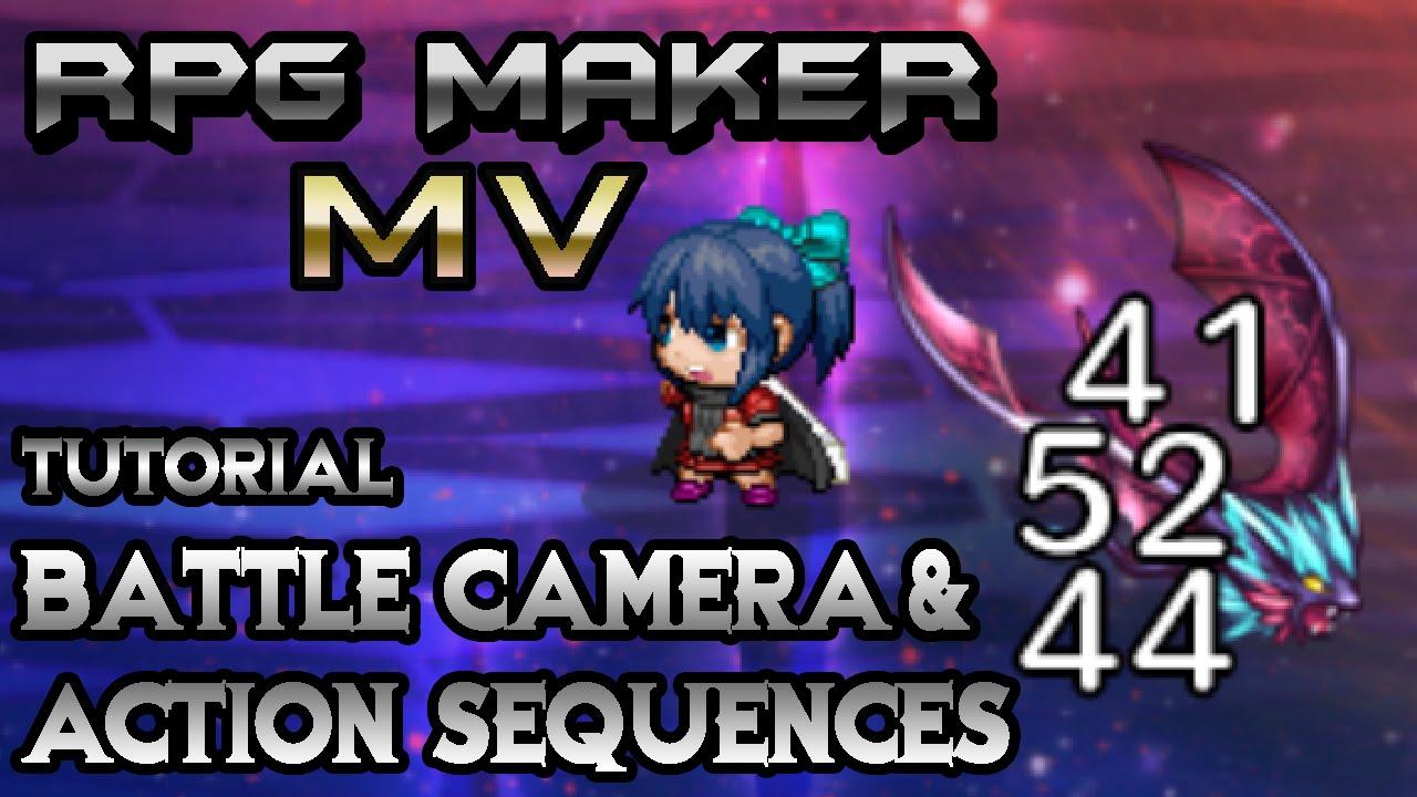 RPG Maker MV Tutorial: Battle Camera & Action Sequences (YEP  BattleEngineCore & ActSeqPack Plugins)