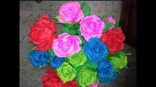 rosas con papel crepe faciles paso a paso