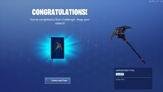 Just unlocked new Pickaxe for the Ruin skin #fortnite #br #dread #ruin