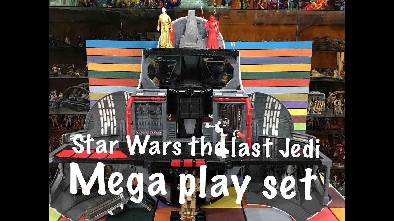 Star Wars The Last Jedi Mega Play Set With Snoke And Praetorian Guard Action Figures Review