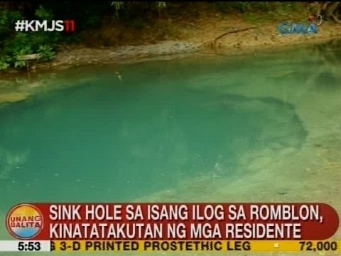 UB: Sink hole sa isang ilog sa Romblon, kinatatakutan ng mga residente