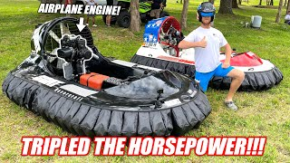 "We Engine Swapped My Hovercraft and It's RIDICULOUSLY Awesome!!! ""Can Blow Over at 60mph"""