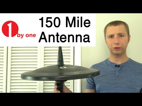 1byone 150 Mile Amplified Outdoor Omni Directional HD TV Antenna Review