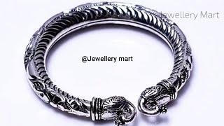 Beautiful girls lion & elephant face kade in pure 925 Silver/Antique silver kade #Girlskade