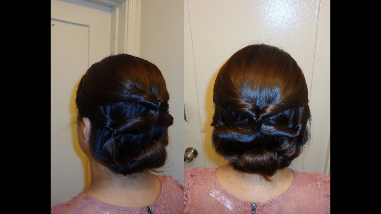 topsy tail updo hairstyle - youtube