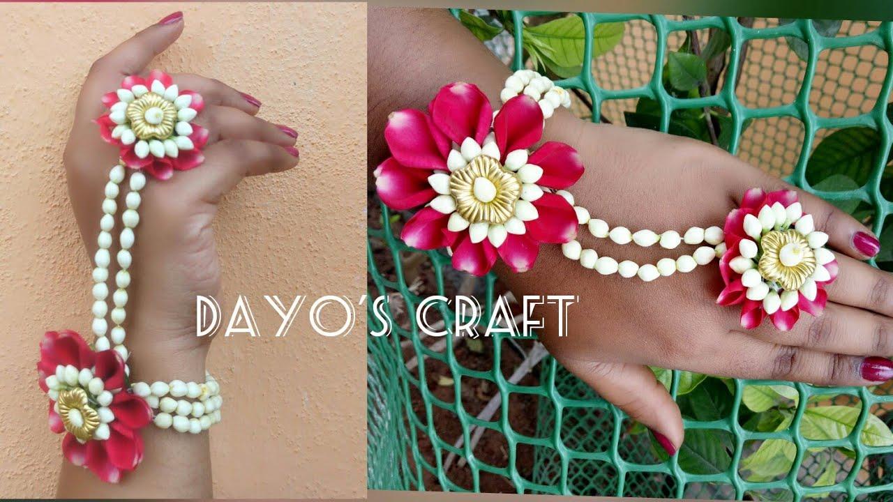 Easy Flower Jewellery Making Bracelet Youtube
