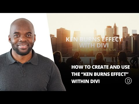 How to Create and Use the Ken Burns Effect within Divi - 동영상