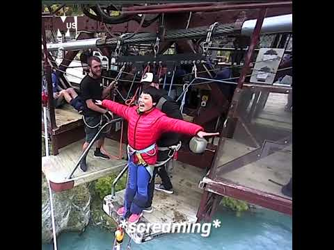 Chinese tourist women refuses to Bungee Jump in New Zealand