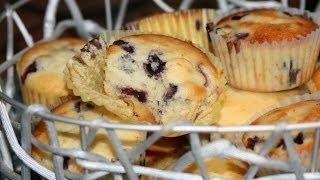 Recette Muffins Aux Bleuets & Citron - Blueberry & Lemon Muffins - Recettes Maroc