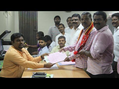இராதாகிருஷ்ணன் நகர் இடைத்தேர்தல்: கலைக்கோட்டுதயம் வேட்புமனு தாக்கல் செய்தார்