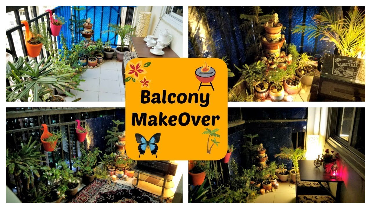Small Indian Balcony Makeover In Budget Balcony Garden Tour Decoration Indian Mom Studio Youtube