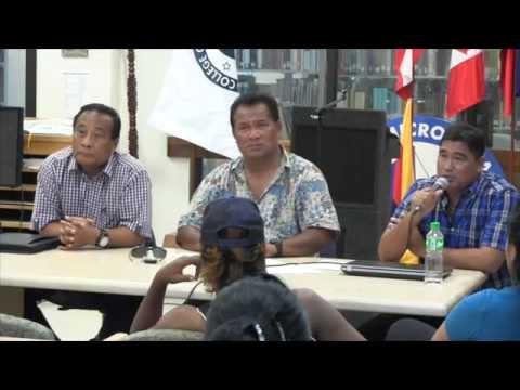 Chuuk Political Status Commission speaking on Chuuk Secession